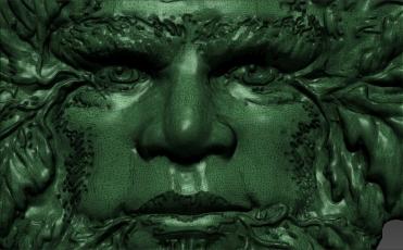 Greenman-wireframe